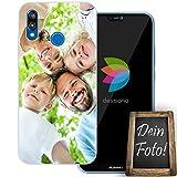 dessana Eigenes Foto Transparente Schutzhülle Handy Tasche Case für Huawei P20 Lite