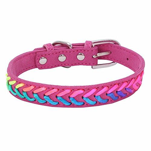 Hawkimin Chihuahua zubehör Exquisite Mode einstellbar 10 Farbe Woven Dog Puppy Pet Halsbänder (Mini Dackel Kostüm)