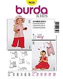 Burda 9650 Schnittmuster Overall Träger-Kleid Hose (Baby, Gr. 62 - 86) Level 1 super easy