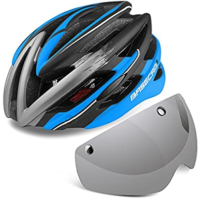 Cycle helmets,LEADFAS Bike Cycling Helmet with Detachable Magnetic Goggles Visor Shield Adjustable Unisex Men Women Road Mountain Safety Protection Biking Bicycle Helmet by LEADFAS