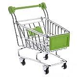 xel_uu.11 Kinder Supermarkt Einkaufswagen Simulation Mini-Trolley Kinder Spielhaus Spielzeug 1 grün