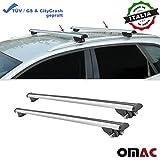 OMAC GmbH Dachträger Gepäckträger Grundträger 120 cm aus Grau Aluminium mit TÜV ABE 2 TLG