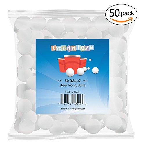 50 Tischtennis-Bälle Set in Weiß, 40mm – ideale Ping Pong Bälle oder Beer Pong Bälle für Weihnachtsfeiern
