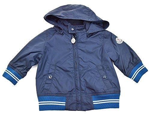 Moncler giacca a vento bambino junior nylon blu art. puss67 n0707 40049 3/6 mesi - months blu - blue