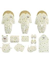SHISHANG Baby Gift Box 100% puro conjunto de regalo de algodón (18 conjuntos) (21 juegos) Baby Girl Boy Garaje Cuatro estaciones para el bebé de 0-1 años de edad , 73cm , 2