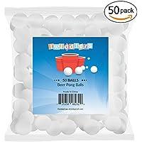 Lot de 50 - Balles de ping-pong blanches - Parfait pour jouer au beer pong aux fêtes de Noël