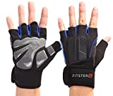 Fitster5 Premium Workout Gloves with Anti-Slip Silica Gel Palm/Wrist strap for Weightlifting Cross Training Strength Training Bodybuilding Fitness,Perfect Durable Workout Gloves for Men & Women