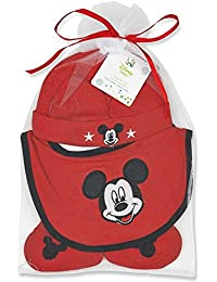 Mickey Mouse Hat, Bib, and Booties Gift Set