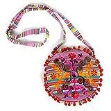 HAB & GUT -IB007A- RAJANI, Indische Damentasche, Umhängetasche, Crossbody Tasche aus 100%...