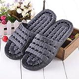 Spritech (TM) -Hombres de PVC Zapatillas sandalia zapato cómodo ducha Slip en Flip FlopSandalias de pvc para hombre, negro