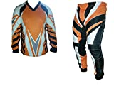 tuta motocross arancio S M L XL XXL XXXL