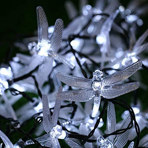 iebetrieben, Libellen-Design, 20 LEDs, wasserdicht, Gartendekoration (mehrfarbig), weiß, Einheitsgröße ()