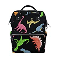 TIZORAX Dinosaur Diaper Backpack Large Capacity Baby Bag Multi-Function Nappy Bags Travel Mom Backpack for Baby Care