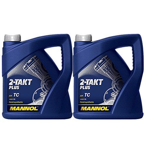 MANNOL 2 x 4L 2-Takt Plus API TC/Motorradoel JASO FD