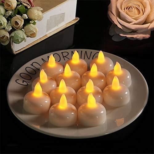 LED Kerze wasserdicht, 12 LED Flammenlose Kerzen, Weihnachten, Elektrische Teelichter Kerzen für Halloween, Weihnachten, Party, Bar, Hochzeit 1 4.0 * 4.0cm