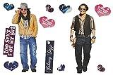 XL Set: Wandtattoo / Sticker - Johnny Depp John Schauspieler - Postersticker - Wandsticker Aufkleber Poster