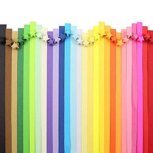 n(2060 Streifen),Origami-Papier doppelseitiges Origamipapier Sterne Papier,Perfektes Geschenk(27 Farben). ()