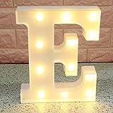 Broadroot 3D Englisch Buchstaben Form LED Nachtlicht Wandbehang Festzelt Zeichen Alphabet Licht Schlafzimmer Hochzeit Party Leuchte Deko Lampe (E)