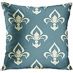 CHSUNHEY Fodera per Cuscino Decorativo Throw Pillowcase Classic Beige Color Floral Arabesque Pattern Damask Motifs Suitable for Tiles And Over Light Gray Antique 18 x 18In,Eco-Friendly Print
