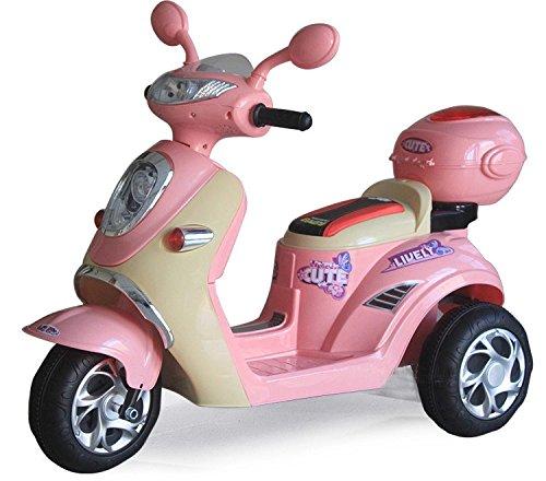 Preisvergleich Produktbild Kinderfahrzeug - Elektro Kindermotorrad Roller-Scooter - 6V mit Mp3 - Neuheit-Rosa