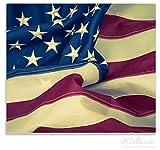 Wallario Herdabdeckplatte / Spitzschutz aus Glas, 1-teilig, 60x52cm, für Ceran- und Induktionsherde, Amerikanische Flagge im Wind