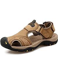 Sandali da Uomo in Pelle Sportivi Estive Sandali Scarpe da Spiaggia Sandali  da Passeggio Scarpe da 92d362a1e93