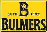 Bulmers Cider cidre 1887 alkohol schild aus blech, metal sign, tin