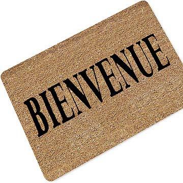 MARCU Home Französisch Hallo Willkommen Gummi Teppich Matte Export Französisch Tür Matte Wasserabsorbierend (Size : 40 * 60cm) (Tür-willkommen-matte Französisch)