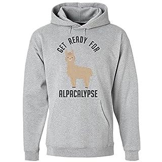 idcommerce Get Ready for Alpacalypse Kapuzenpulli für Herren Medium