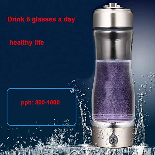 UTNF Tragbarer Wasserionisierer-Wasserstoff-Generator Für H2 Reiche Wasserstoff-Wasser-Flasche Ionizer 450Ml USB-Elektrolyse, A -