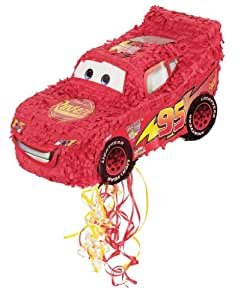 Hallmark Disney's Cars Pull-String Pinata - Great For A Small Party - For Ages 3 Years And Up Toy / Game / Play / Child / Kid