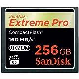Sandisk Extreme PRO, 256GB - Tarjeta de memoria (256GB, 256 GB, CompactFlash (CF), 160 MB/s, Negro, -25-85 °C, -40-85 °C)