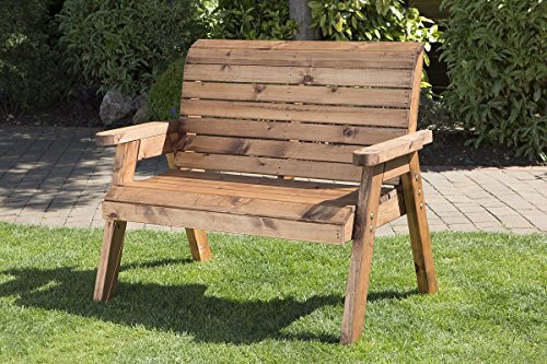 Wooden Bench 2 Seater - Outdoor Patio Solid Wood Garden Furniture