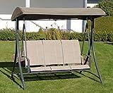 Haberkorn-Garten Hollywoodschaukel Ragusa 3-Sitz Schaukel mit Textilbespannung