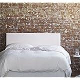 SuenosZzz-OFERTA!! Cabecero tapizado Liso Blanco. 12 Colores a elegir. Medida: 100x57 (Camas 90)