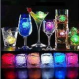 12 Cubitos de hielo luminosos led Grandes ENTREGA 1-3 DÍAS (Multicolor)
