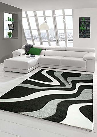 Tapis 160 X 160 Blanc - Salon Designer Tapis contemporain Tapis moquette avec
