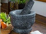 FiNeWaY @ livivo sólida y duradera Natural granito Mortero y mortero especias Grinder Crusher de pasta de pulido