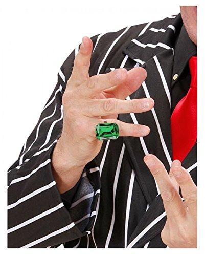 Horror-Shop Ring mit smaragdgrünem -