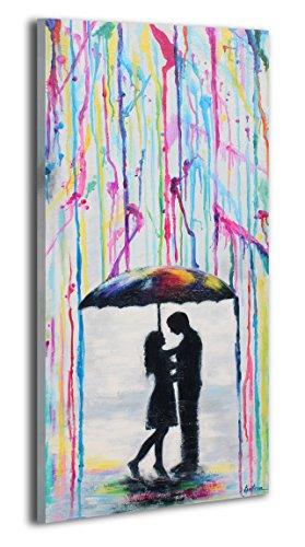 Ys-art 100% dipinto a mano + certificato | 115x50 cm | quadri acrilici amante | quadro su tela e cornice in legno | foto fatte a mano immagine della parete unica | 1 parte | arte moderna (rr-174)