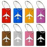 Viaggio bagagli Tag valigia bagagli Bag Tag ID viaggio borsa Tag Airlines bagagli etichette Pack di 8