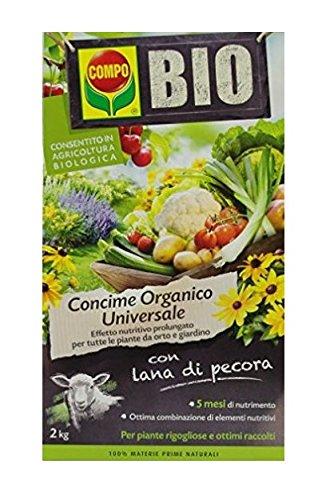 Compo Bio Engrais avec Mouton en laine Lot de 2 kg