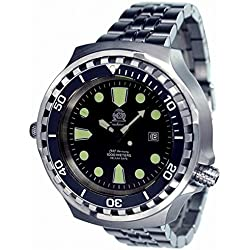 52mm diver watch -automatic movt. sapphire glass and metall band T0256M