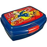 Preisvergleich für Feuerwehrmann Sam - Box Vesper Dose Brotdose Scooli 16,5 x 13,0 x 6,5 cm