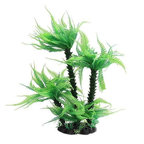 Jimfoty Künstliche Aquarium-Plastikpflanze, Aquarium-Dekorations-Verzierungs-Korallenpflanzen-Verzierungs-klare künstliche Fischpflanzen