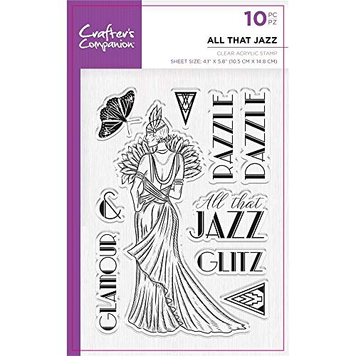 Crafters Companion Unmounted Clear Acrylic Stamp - Vintage - All that Jazz
