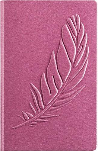 """Brunnen 1055089551 Notizbuch 3D-Flexibook Reverse dotted (A5, 12 x 19,3cm, 96 Blatt, Soft-Cover) 1 Stück \""""Feder\"""" Rosa"""