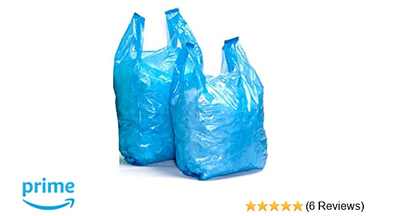 100 11 x 17 x 21 Strong White Vest Style Plastic Carrier Bags Heavy Duty 21mu Sabco 100/% Recyclable Eco Friendly