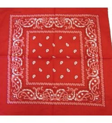 Red Bandana - Paisley - klassische Paisley Bandana In Bright Red (Paisley Schal Square)