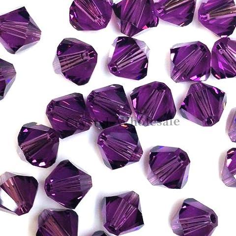 5328/53016mm con cristalli Swarovski ametista (204) Genuine Loose bicono perline * * Spedizione Gratuita da Mychobos (crystal-wholesale) * *, Purple - Ametista Bicono